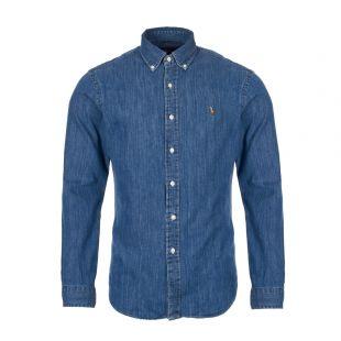 ralph lauren shirt chambray 710548539|001 dark wash