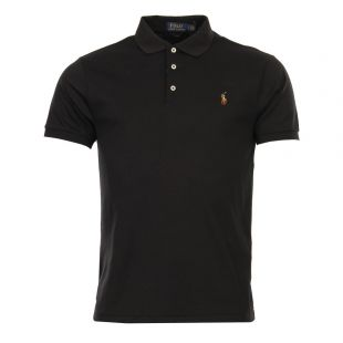 Ralph Lauren Slim Fit Polo Shirt Black 7106685514002