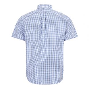 Short Sleeve Shirt Gingham - Blue / White