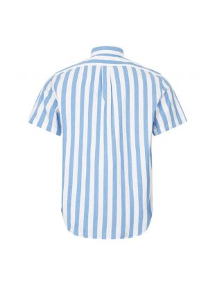 Short Sleeve Stripe Shirt - Blue / White