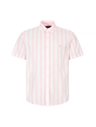 Ralph Lauren Short Sleeve Stripe Shirt | 710805619 003 Pink / White