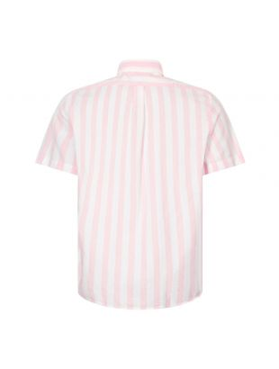 Short Sleeve Stripe Shirt - Pink / White