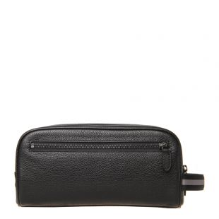 Full-Grain Leather Washbag - Black