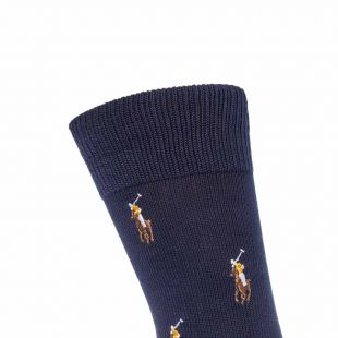 Socks - Navy Pony