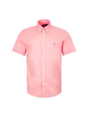 Ralph Lauren Short Sleeve Custom Fit Logo Shirt | Pink 7107925273 007 | Aphrodite