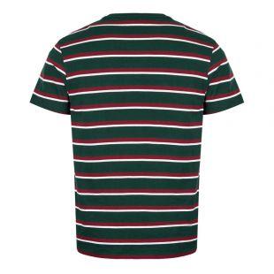 T-Shirt Stripe - Green / Maroon / White