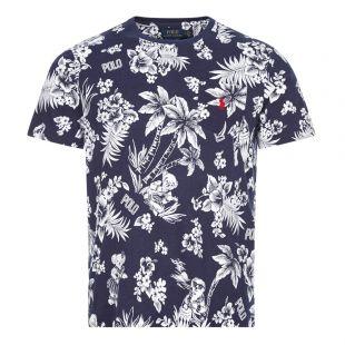ralph lauren t-shirt 710788945 003 navy print