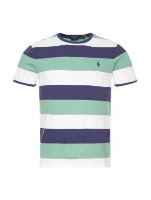 Ralph Lauren T-Shirt Stripe | 710803535 001 Navy / Green / White | Aphrodite