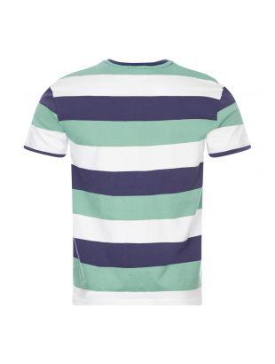 T-Shirt Striped - Green / Navy / White