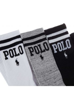 Socks Three Pack - Grey / White / Black