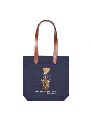 Ralph Lauren Canvas Tote Bag Polo Bear | 405819539 001 Navy