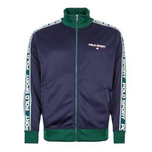 Ralph Lauren Track Top | 710761090 004 Navy / White / Green