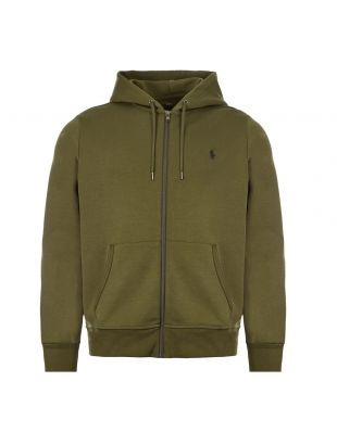 Ralph Lauren Zipped Hoodie 710652313|043 In Green At Aphrodite Clothing