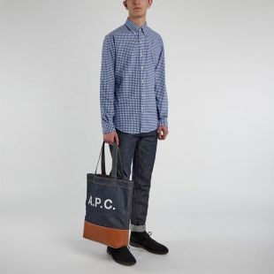 Shirt Gingham - Blue / White