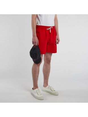 Swim Shorts Hawaiian  - Red