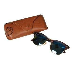 Clubmaster Sunglasses - Blue Mirrored / Dark Tortoiseshell