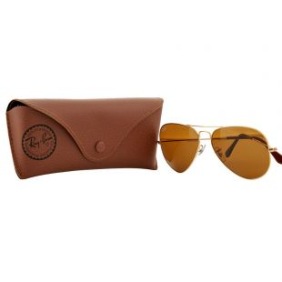 Aviator Sunglasses - Gold / Brown