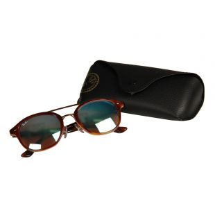 Sunglasses - Brown / Blue Mirrored