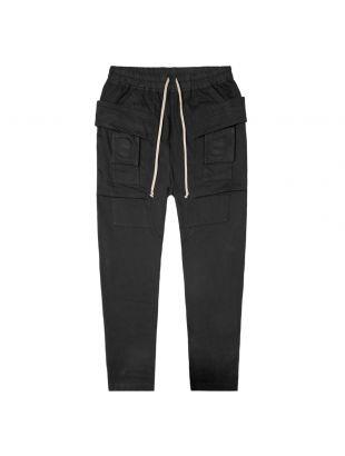 rick owens drkshdw trousers cargo creatch DU20F1376 RIG 09 black