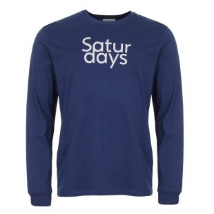 Saturdays NYC Long Sleeve T Shirt M41829 LS01 S4700 Cobalt Blue