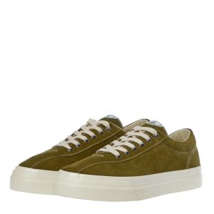 Dellow Suede Trainers - Military Green