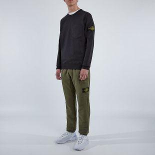 Black Sweatshirt Pocket - Black
