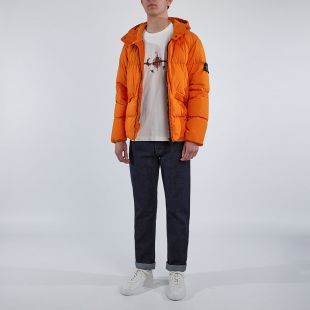 Jacket Crinkle Reps Garment Dyed - Orange