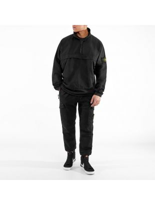 Overshirt Half Zip - Black