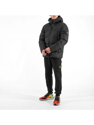 Crinkle Reps Down Jacket - Black
