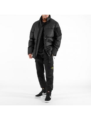 Jacket Rubberised Linen - Black