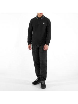 Long Sleeve Polo - Black