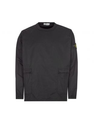 stone island overshirt cotton twill black