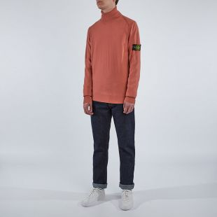 Roll Neck Sweatshirt - Coral