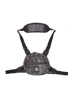 Reflective Grid Bum Bag - Blue / Grey