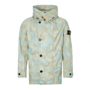 stone island jacket camo devore watro tc 7215420E2 V0092 green / blue