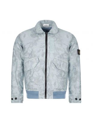 Stone Island Big Loom Camo Jacket | 7215445E1 V0041 Sky Blue