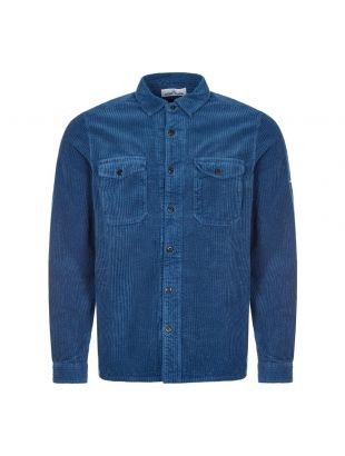 Stone Island Cord Shirt , 731512111 V0043 Blue , Aphrodite 1994
