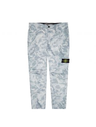 stone island trousers big loom camo 7215323ED V0041 sky blue