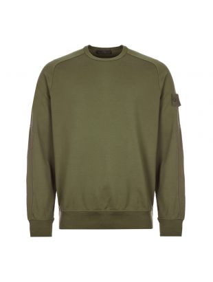 stone island ghost sweatshirt 7215637F3 V0054 military green