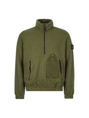Stone Island Half Zipped Sweatshirt   731561520 V0059 Dark Green