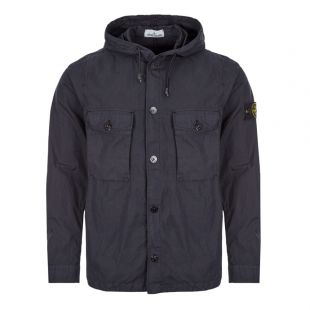 stone island hooded overshirt 721512408 V0020 navy