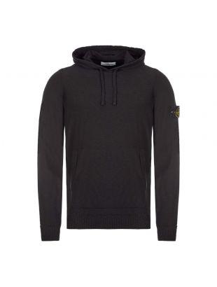 stone island knitted hoodie 7215505B0|V0029  black