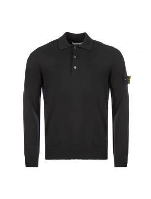 Stone Island Long Sleeve Polo | 7315512A1 V0029 Black | Aphrodite
