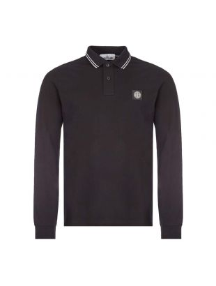 Stone Island Long Sleeve Polo Black 73152SS18 V0029