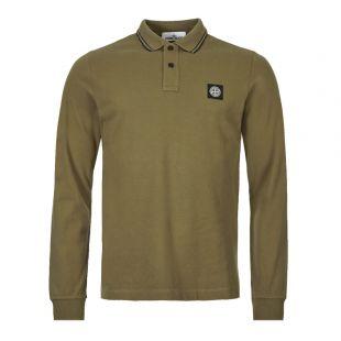 Stone Island Long Sleeve Polo Shirt 71152SS18 V1058 Olive