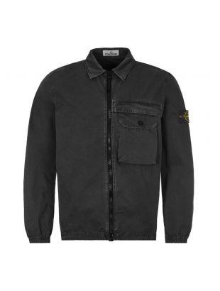 Stone Island Zipped Overshirt |7315107WN VO129 Black | Aphrodite