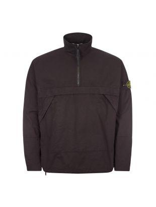 Stone Island Half Zip Overshirt | 731510802 V0029 Black
