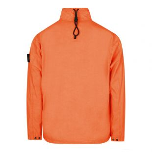 Half-Zip Overshirt - Red Orange