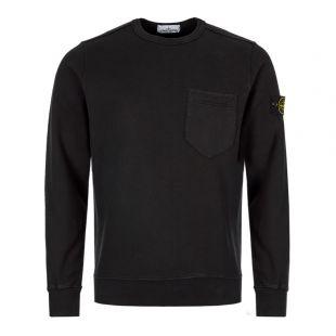 Stone Island Black Sweatshirt Pocket 711563820 V0029 Black