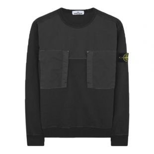 stone island sweatshirt pocket 721561953 V0029 black